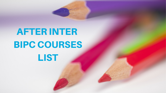 After Inter BIPC Courses List