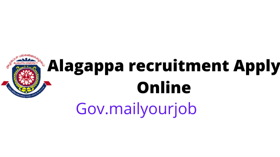 Alagappa recruitment apply online