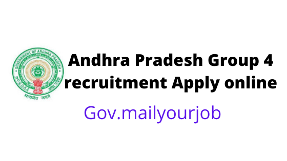Andhra Pradesh Group 4 recruitment apply online