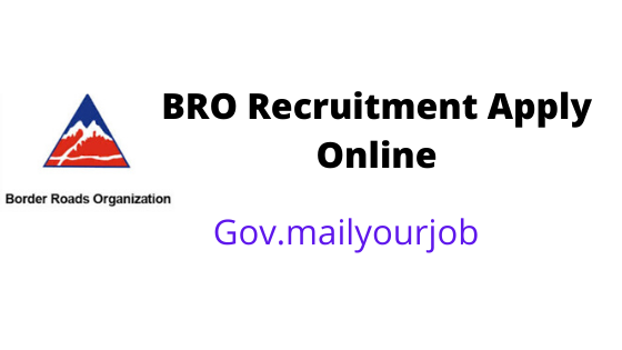 BRO Recruitment apply online