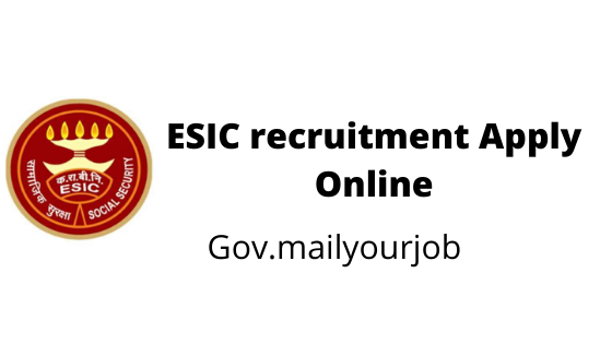 ESIC recruitment apply online