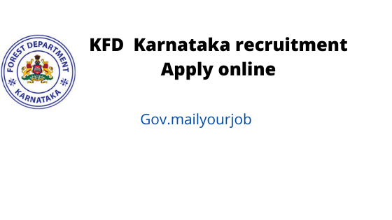 KFD  Karnataka recruitment apply online