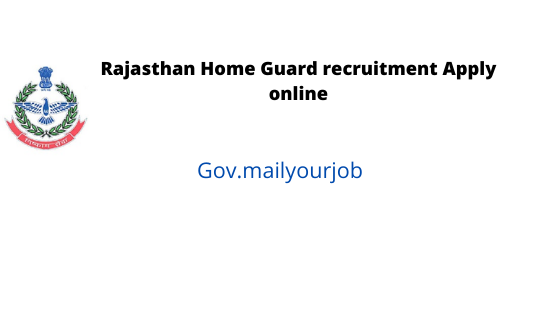 rajasthan home guard recuritment apply online