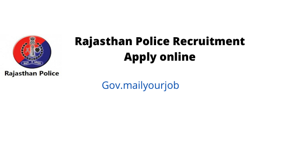 rajasthan police recruitment apply online
