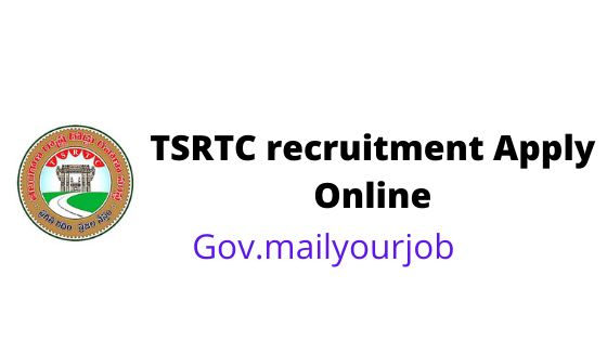 TSRTC recruitment apply online