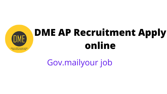 DME AP Recruitment apply online