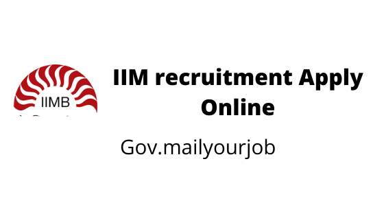 IIM recruitment Apply Online