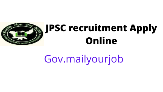 JPSC recruitment Apply Online