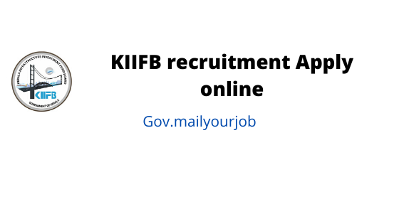 KIIFB recruitment Apply online
