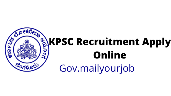 KPSC Recruitment apply online