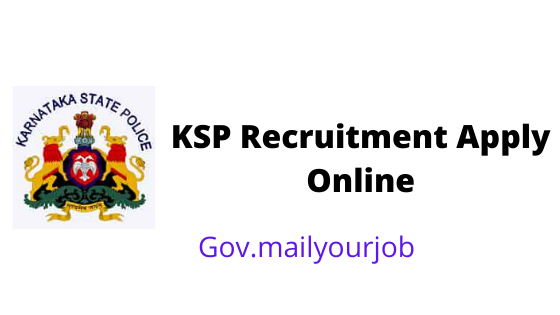 KSP Recruitment Apply online