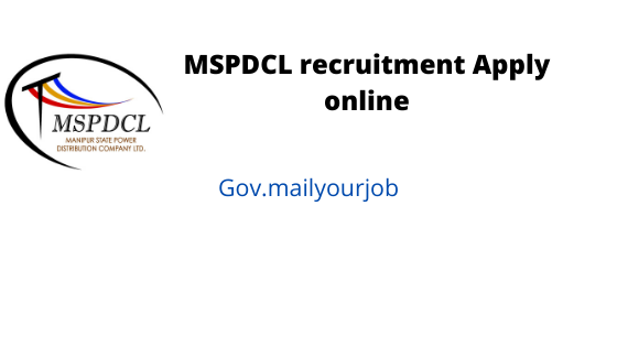 MSPDCL recruitment apply online