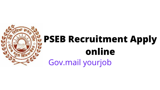 PSEB Recruitment apply online