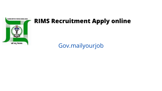 RIMS recruitment apply online