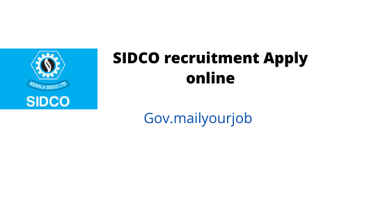 sidco recruitment apply online