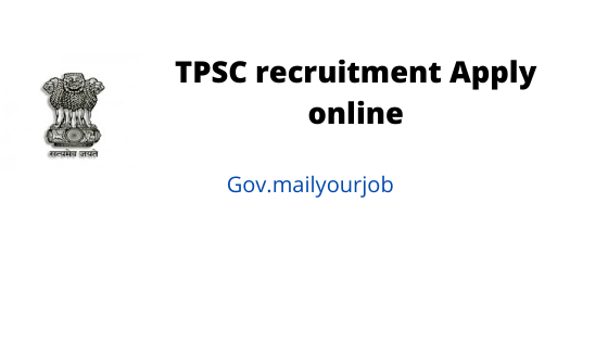 TPSC recruitment apply online
