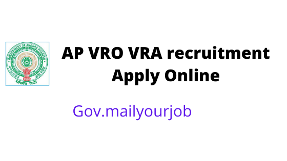 AP VRO VRA recruitment apply online