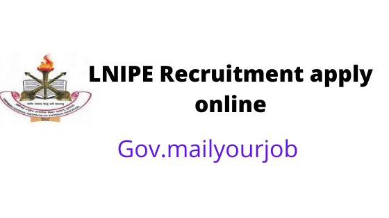 LNIPE recruitment apply online